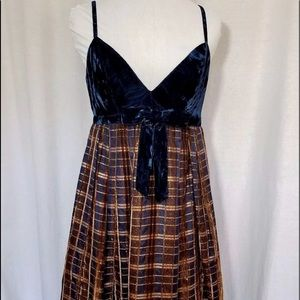 Anna Sui Blue Velvet Dress Size 2
